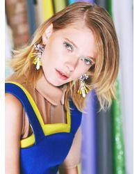 Kirsty Ward - Embellished Pewter Column Earrings - Lyst