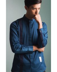 idle/idō - Solidarity Mandarin Collar Shirt - Lyst