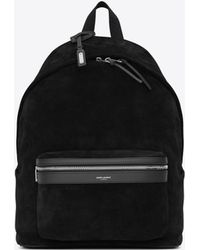 Saint Laurent - City Backpack In Suede - Lyst