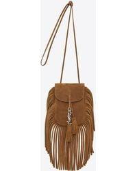 Saint Laurent - Toy Anita Fringed Suede Cross-Body Bag - Lyst