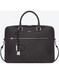 Saint Laurent - Sac De Jour Briefcase In Grained Leather - Lyst