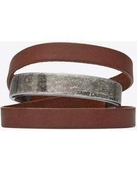 Saint Laurent - Leather Bracelets - Lyst