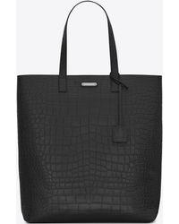 Saint Laurent - Bold Tote Bag In Crocodile Embossed Leather - Lyst