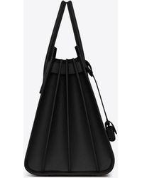 Saint Laurent - Large Sac De Jour Carry All Bag In Black Grained Leather - Lyst