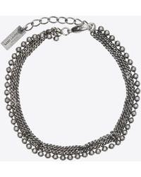 Saint Laurent - Bracelet à triple rang en métal - Lyst