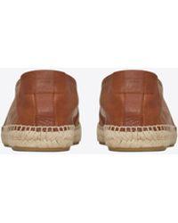 569575d040b Lyst - Saint Laurent Ysl Leather Slide in Brown for Men