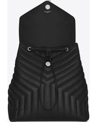 f1f0fd4c0ea Saint Laurent Gradient Backpack in Black - Lyst