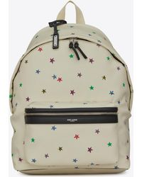 8105863b21 Saint Laurent - City Canvas Backpack With Stars Print - Lyst
