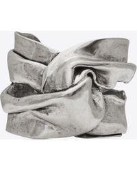 Saint Laurent - Drapee Bracelet In Silver-tone Metal - Lyst