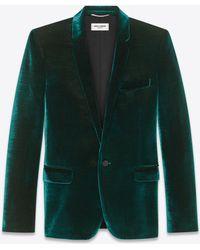 Saint Laurent - Crinkled Velvet Jacket - Lyst