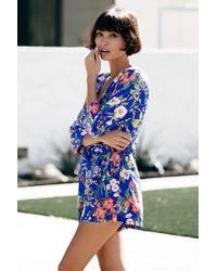 1f2f57e871728 Lyst - Yumi Kim Liz Silk Romper in Blue