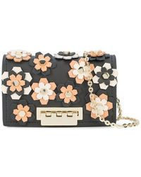 Zac Zac Posen - Earthette Credit Card Case With Chain - Hex Floral Applique - Lyst