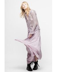 Zadig & Voltaire - Roma Goa Dress - Lyst