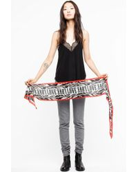 Zadig & Voltaire - Silky Leo Scarf - Lyst