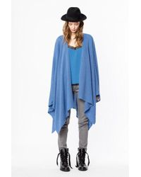Zadig & Voltaire - Poncho india cachemire - Lyst
