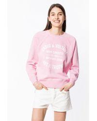 Zadig & Voltaire Sweatshirt Upper Blason - Pink