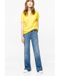 Zadig & Voltaire - Deluxe Embroidered Feather Jeans - Lyst