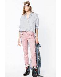 Zadig & Voltaire - Ava Marbre Jeans - Lyst