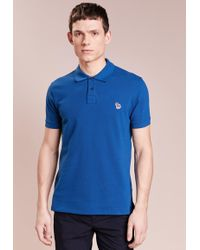 5b39c1ce Lyst - Gant Contrast Collar Polo Shirt in Blue for Men