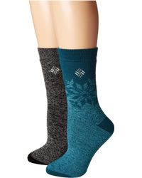 Columbia - Midweight Snowflake Thermal 2-pack (dusty Purple Assorted) Women's Crew Cut Socks Shoes - Lyst