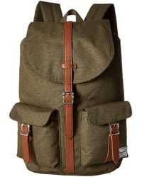 Hot Herschel Supply Co. - Dawson (ivy Green Slub tan Synthetic Leather)  Backpack 607eba640f9f9