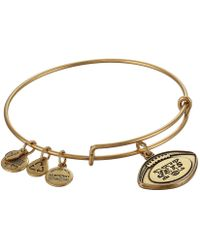 ALEX AND ANI - New York Jets Football Charm Bangle - Lyst