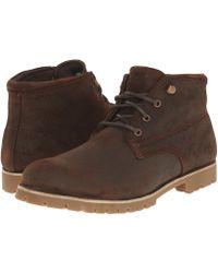Wolverine - Cort Waterproof Leather Chukka (black Leather) Men's Work Boots - Lyst