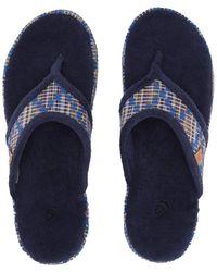 8367cf62afa Acorn - Thong Summerweight (blue Plaid) Women s Slippers - Lyst
