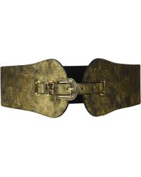 Steve Madden - Metallic Stretch Belt (gold) Women's Belts - Lyst