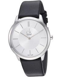 Calvin Klein - Minimal Watch - K3m211c6 (silver/black) Watches - Lyst