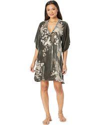 Johnny Was - Othilia Velvet Kimono Dress (steel Grey) Women's Dress - Lyst