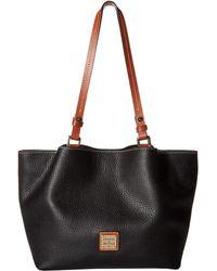 Dooney & Bourke - Pebble Small Flynn (glacier Blue/tan Trim) Handbags - Lyst