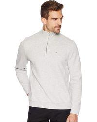 Calvin Klein - The Classic 1/4 Zip (gunmetal Heather) Men's Clothing - Lyst