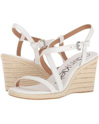Calvin Klein - Bellemine Espadrille Wedge (soft Platinum) Women's Wedge Shoes - Lyst