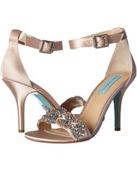 Betsey Johnson - Gina (champagne) Women's 1-2 Inch Heel Shoes - Lyst