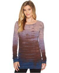 Hard Tail - Long Skinny Tee (diagonal Butterfly 1) Women's T Shirt - Lyst