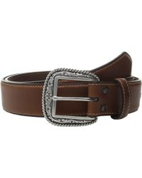 Ariat - Scroll With Concho Belt (brown) Men's Belts - Lyst
