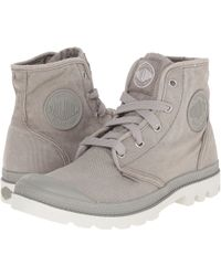 Women's Palladium Pampa Hi Concrete/Silver Birch Boots (Black/Bl
