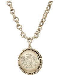 Lauren by Ralph Lauren - 17 Crest Pendant Necklace (silver) Necklace - Lyst