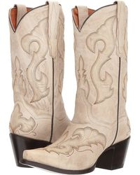 e8db27184ee Dan Post - Stormy (distressed White) Cowboy Boots - Lyst