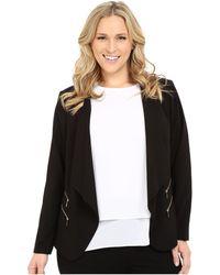 CK Calvin Klein - Plus Size 2 Zipper Jacket W/ Fly Away - Lyst