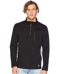 3d81ca00e68a Timberland - Studwall 1 4 Zip Textured Fleece Top (black) Men s Clothing -