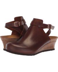 Birkenstock - Esra (black Leather) Women's Wedge Shoes - Lyst
