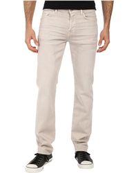 7 For All Mankind - Luxe Performance Slimmy Slim Straight In Twill Colors (light Khaki) Men's Casual Pants - Lyst