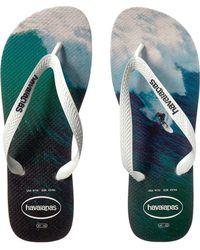 7806b8e225d7 Lyst - Havaianas Hype Wave Print Flip-flops in White for Men