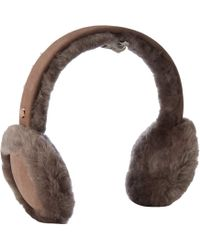 UGG - Water Resistant Sheepskin With Bluetooth Tech Earmuff (black) Cold Weather Hats - Lyst