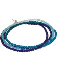 Shashi - Crystal 5 Wrap Convertible Bracelet - Lyst
