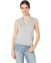 4c5d32344d941 Lyst - Splendid Delcia Mock Neck Tank in Black