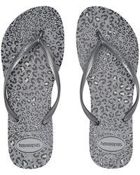 2ad57737b572 Havaianas - Slim Animals Flip Flops (beige rose Gold 2) Women s Sandals -
