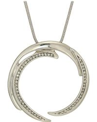 House of Harlow 1960 - Wave Pendant Necklace (silver) Necklace - Lyst